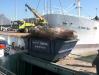 Scrap being offloaded in CT harbour