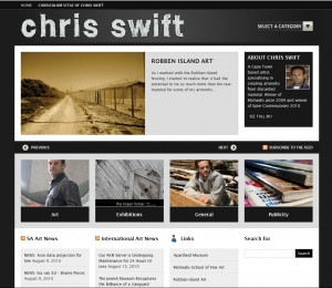 Chris Swift Website Screenshot